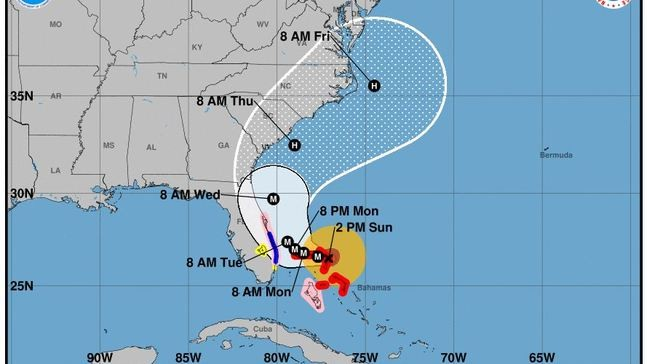 Hurricane warning extends northward to Flager/Volusia County