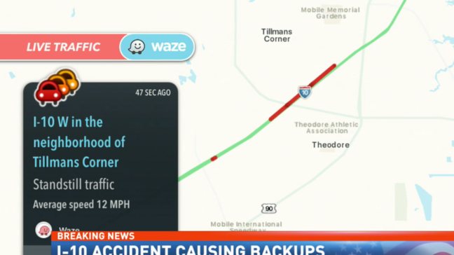 TRAFFIC ALERT: Major crash on I-10 EB right before Exit 13