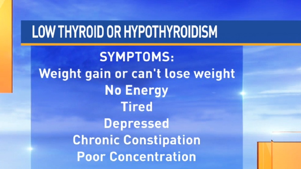 Thyroid Disorder Can Cause Weight Gain Lack Of Energy Wpmi